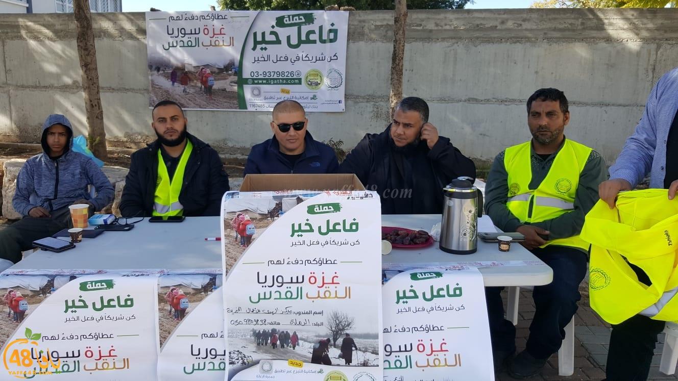 صور: الاسلامية بالرملة تجمع التبرعات ضمن حملة دفيني 7