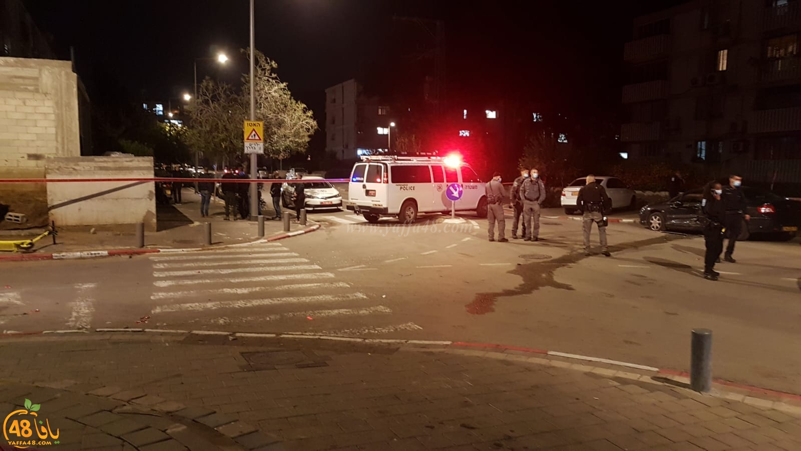 يافا: إصابتان إحداهما خطرة في حادث إطلاق وسط المدينة