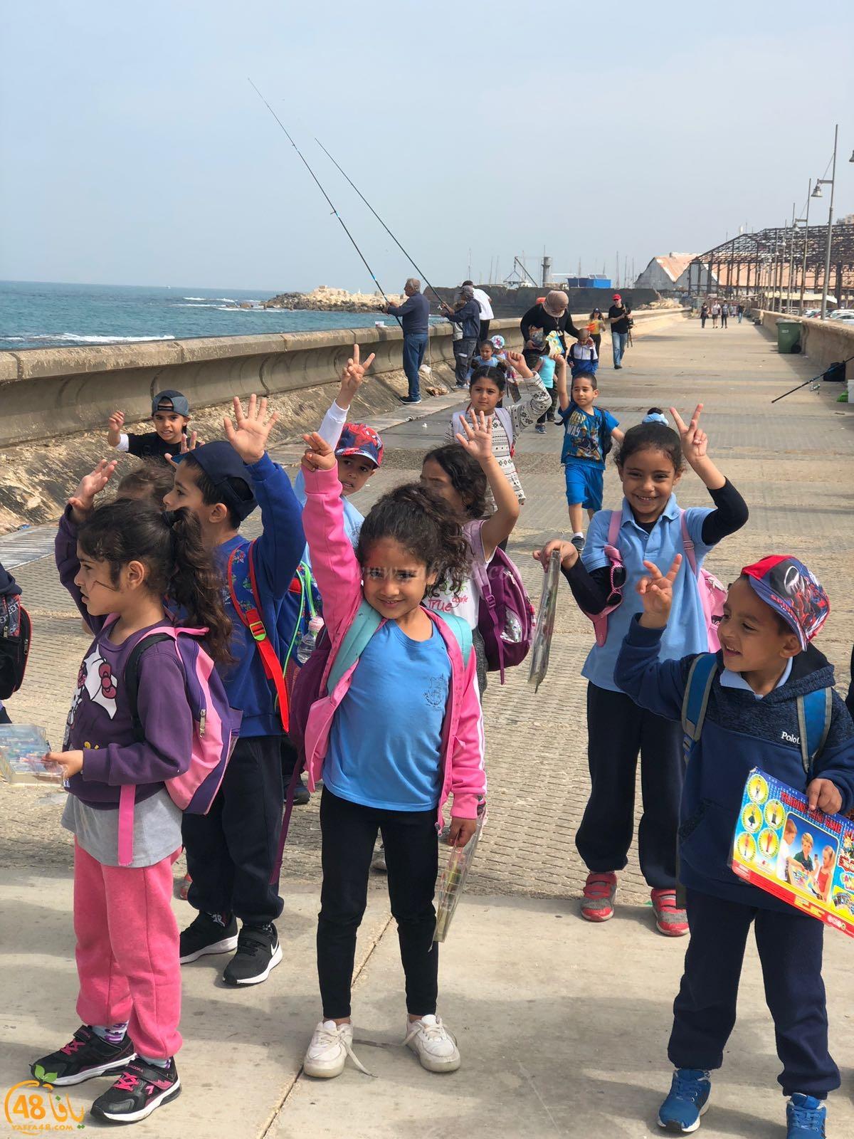 طلاب البستان في مدرسة حسن عرفة يزورون ميناء يافا