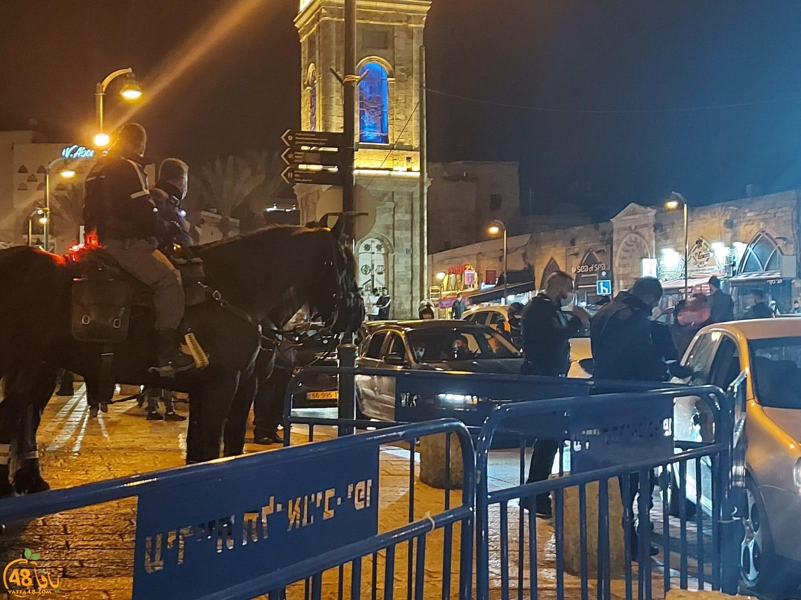 الشرطة تنتشر بكثافة في يافا لمنع اقامة أي مراسم احتفالية بالعام الجديد