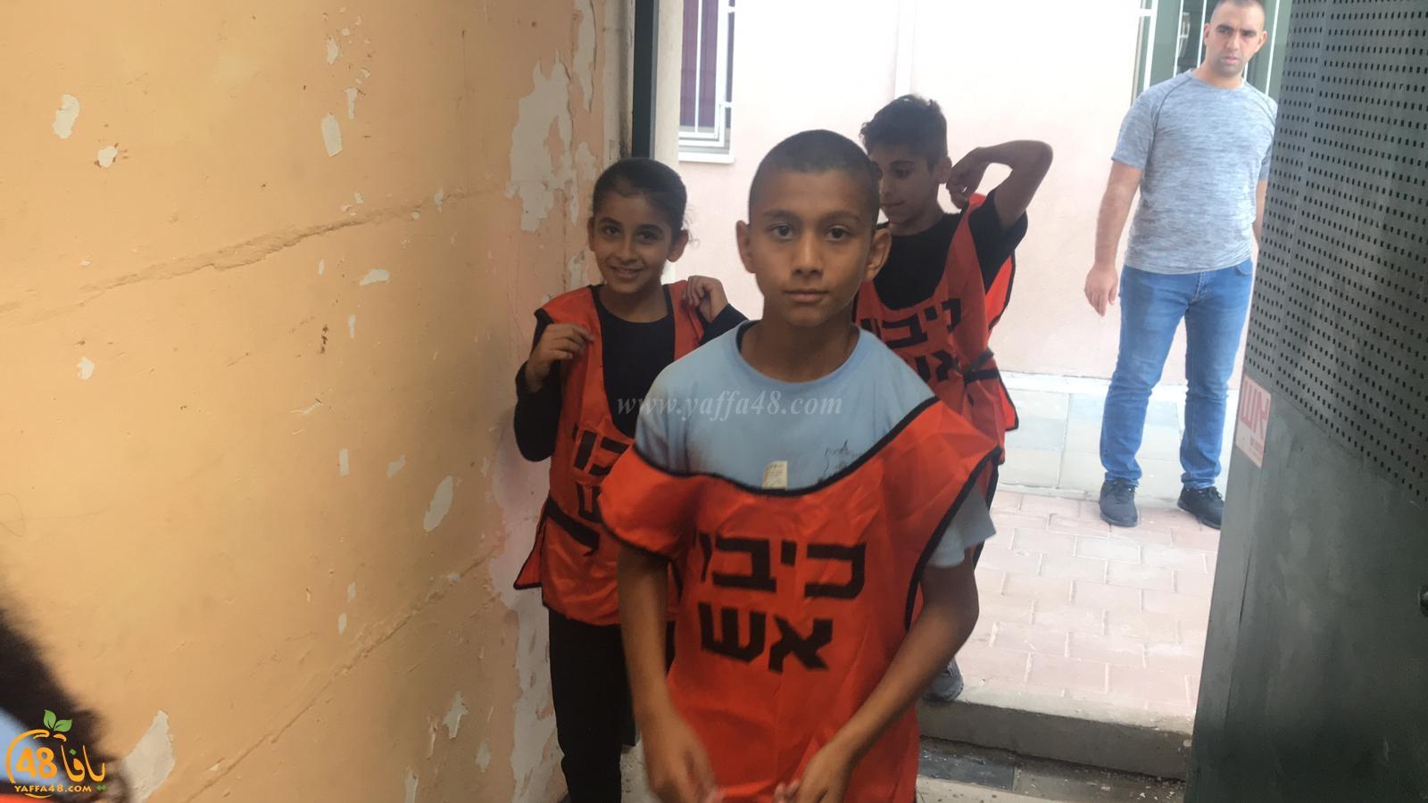 مدرسة حسن عرفة الابتدائية تُنظم تمريناً للدخول الى الأماكن المحصّنة