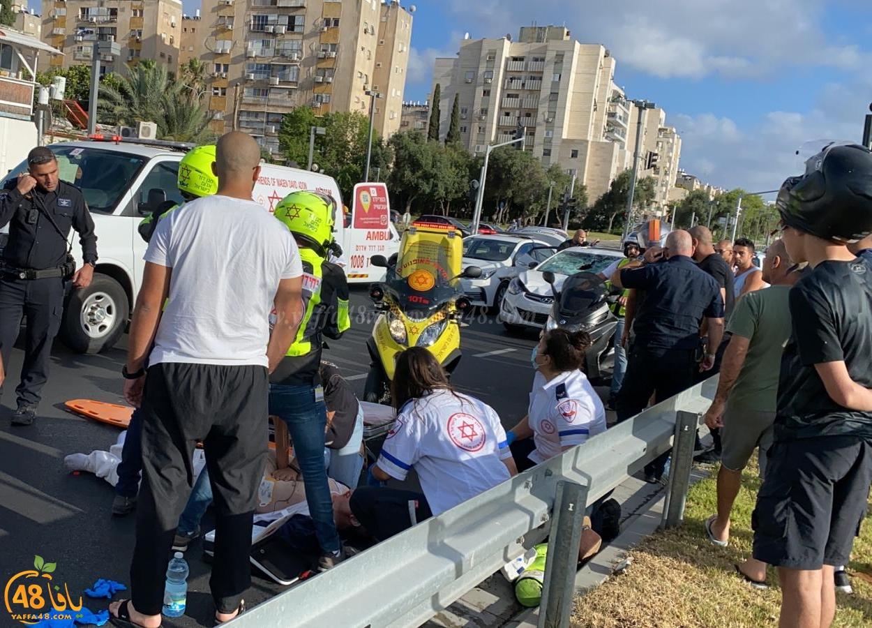يافا: إصابة خطرة لرجل بحادث دهس في المدينة