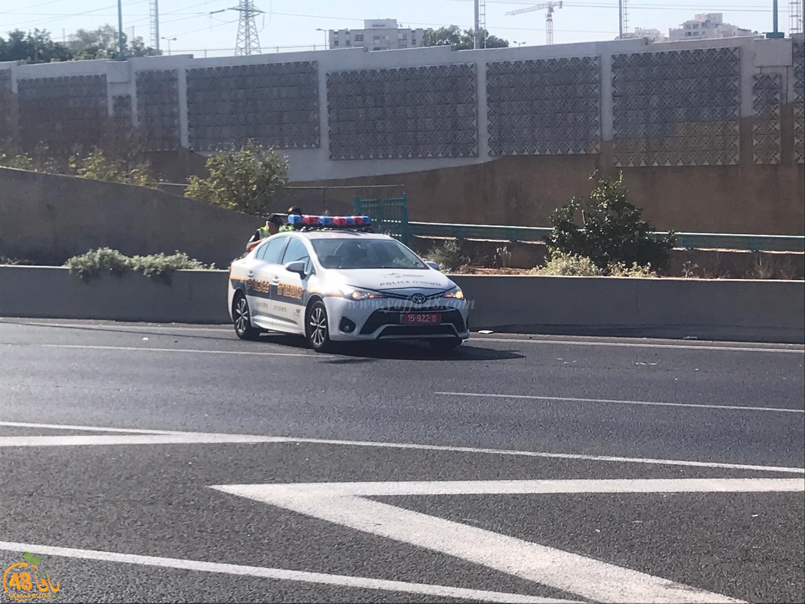 اصابة طفيفة بحادث طرق ذاتي جنوب يافا