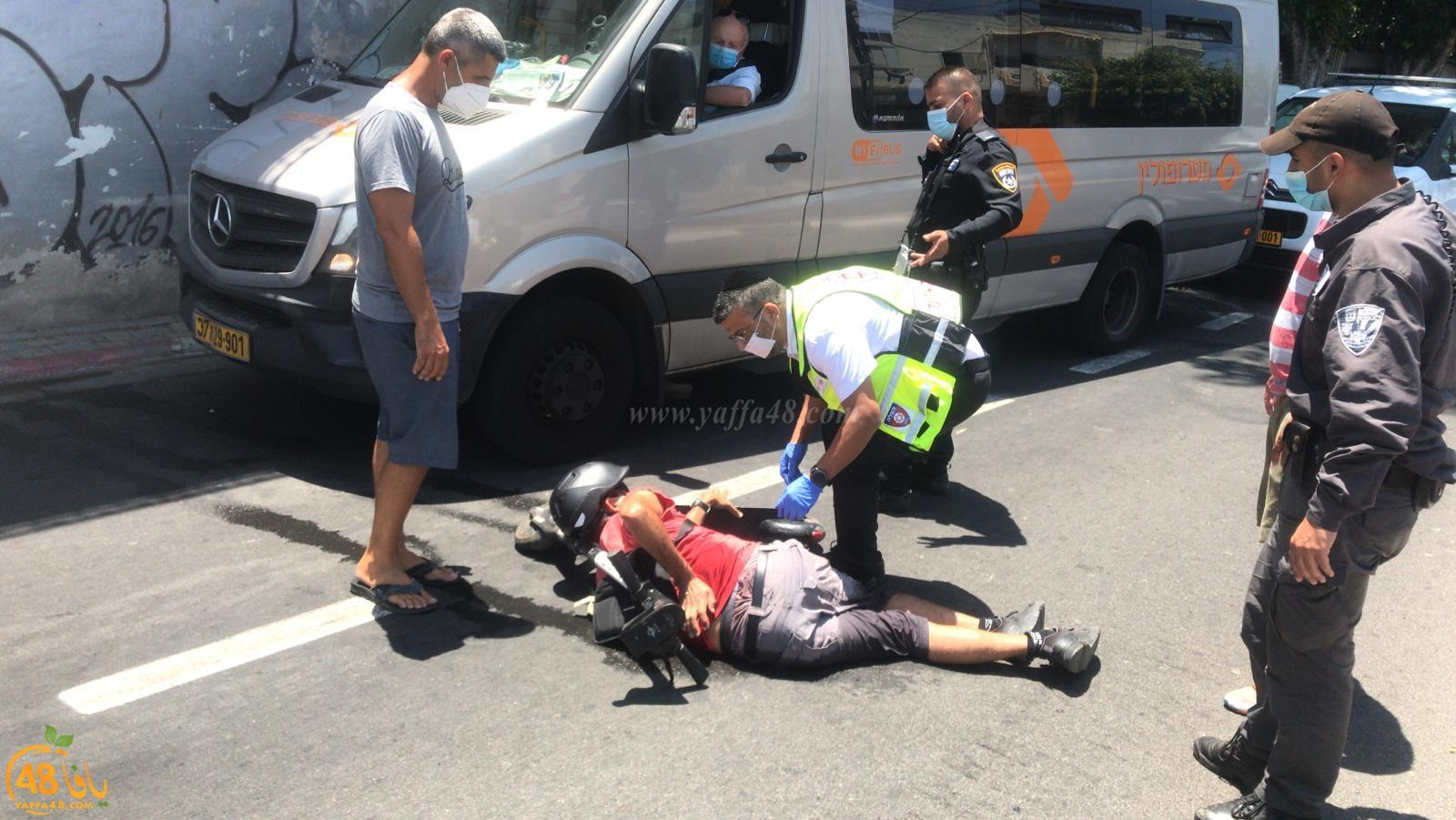 يافا: إصابة طفيفة لراكب دراجة كهربائية بحادث ذاتي