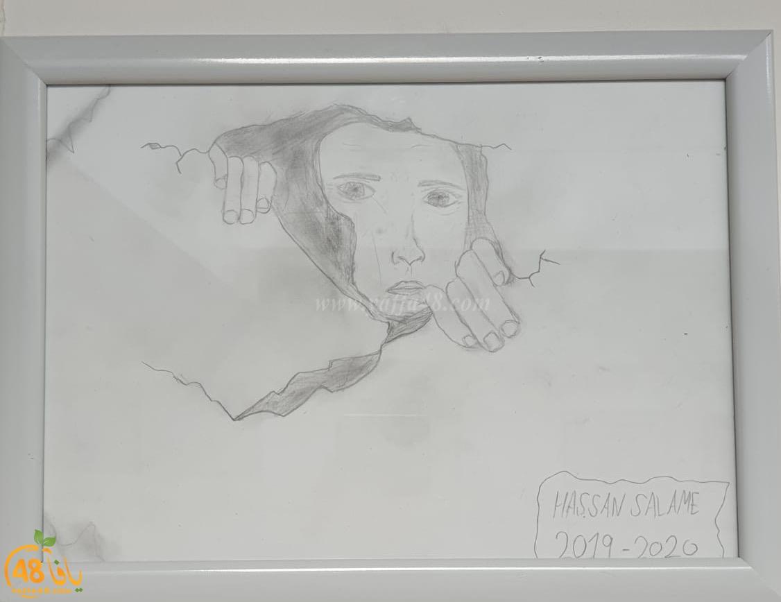 صور: أجيال الثانوية بيافا تشجّع وتدعم مشروع الرسم بالرصاص