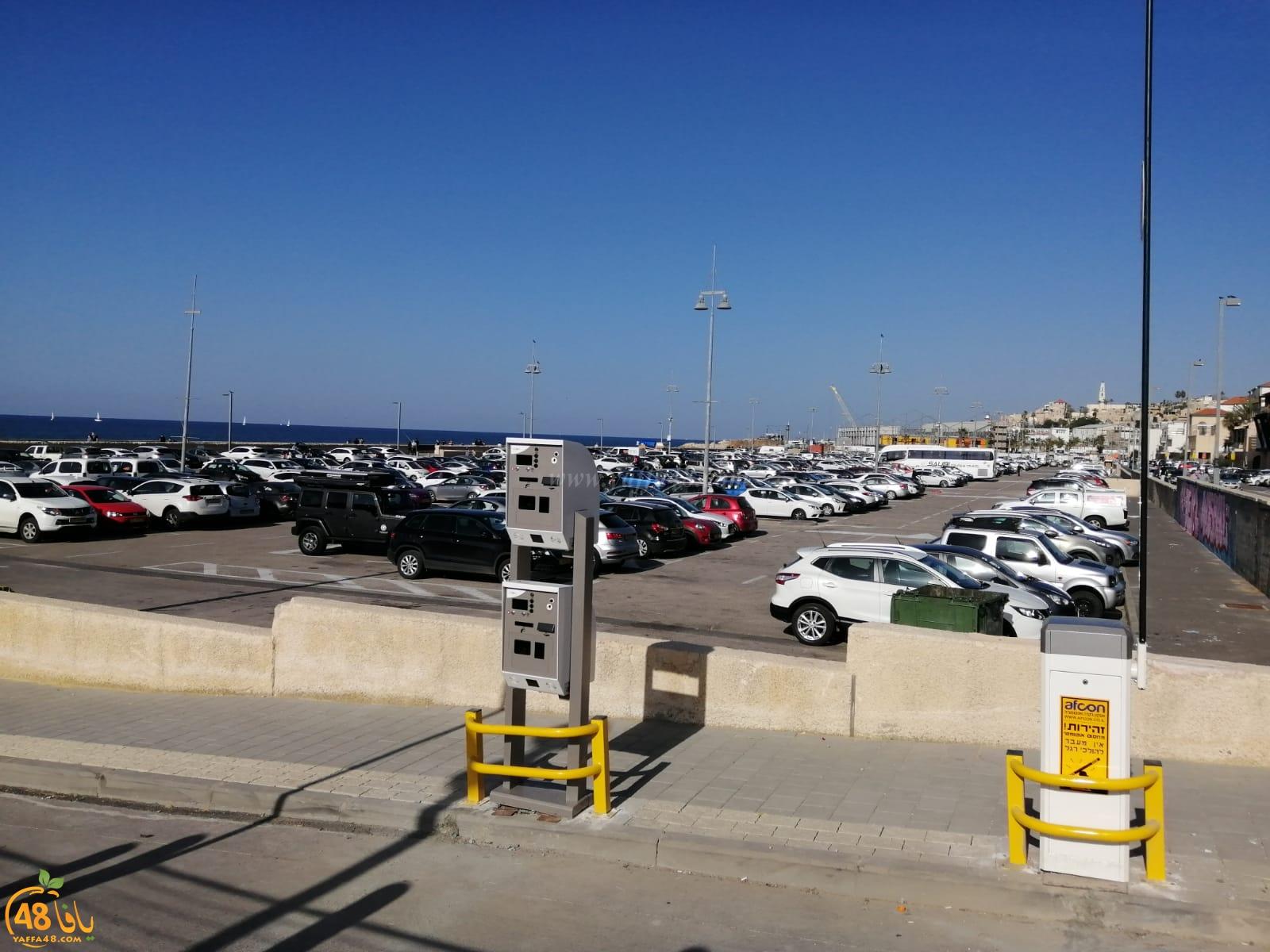 من بداية العام - تحصيل الرسوم مقابل ركن السيارات في مصف الميناء