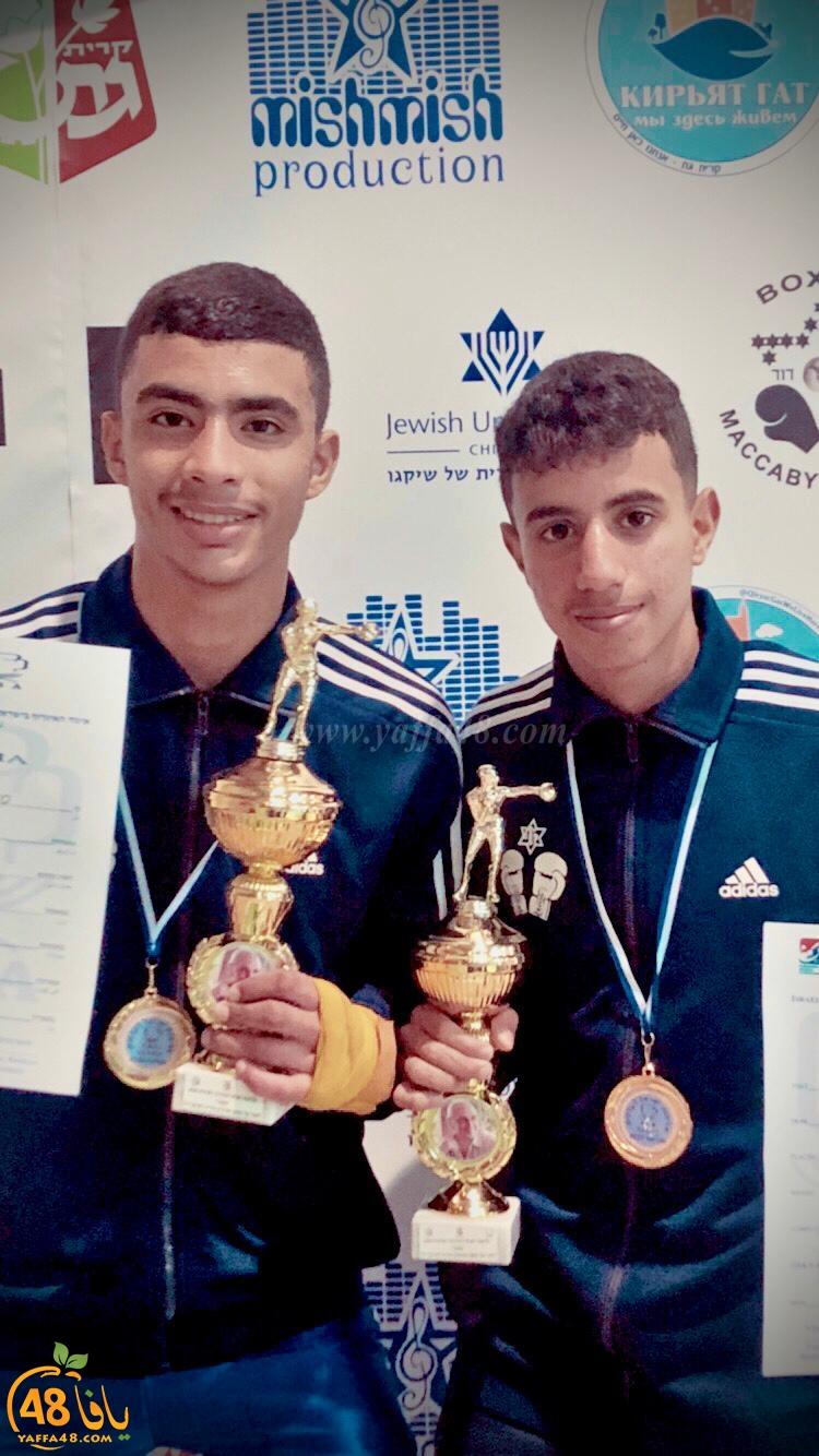 ابطال الملاكمة من اللد يحصدون المراتب الاولى في بطولة البلاد