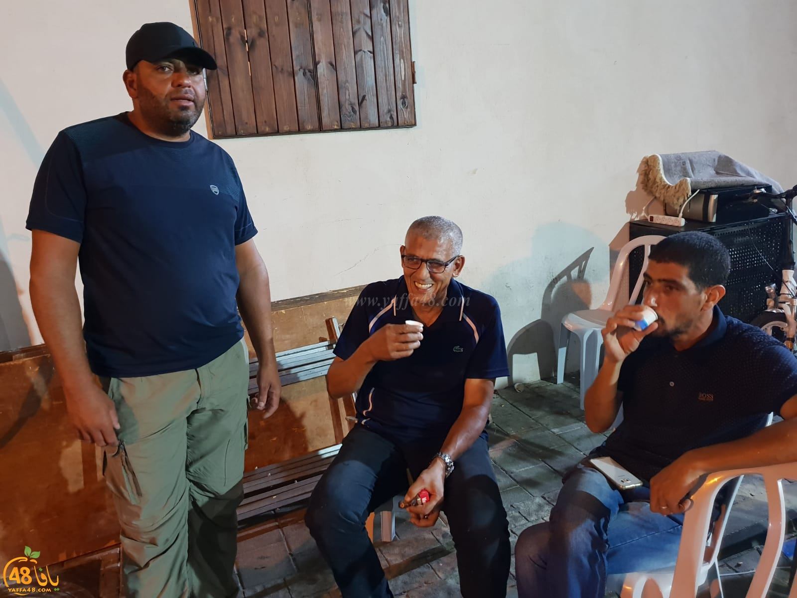 بالصور: وفود تُقدّم واجب العزاء لعائلة شقرة بمدينة يافا
