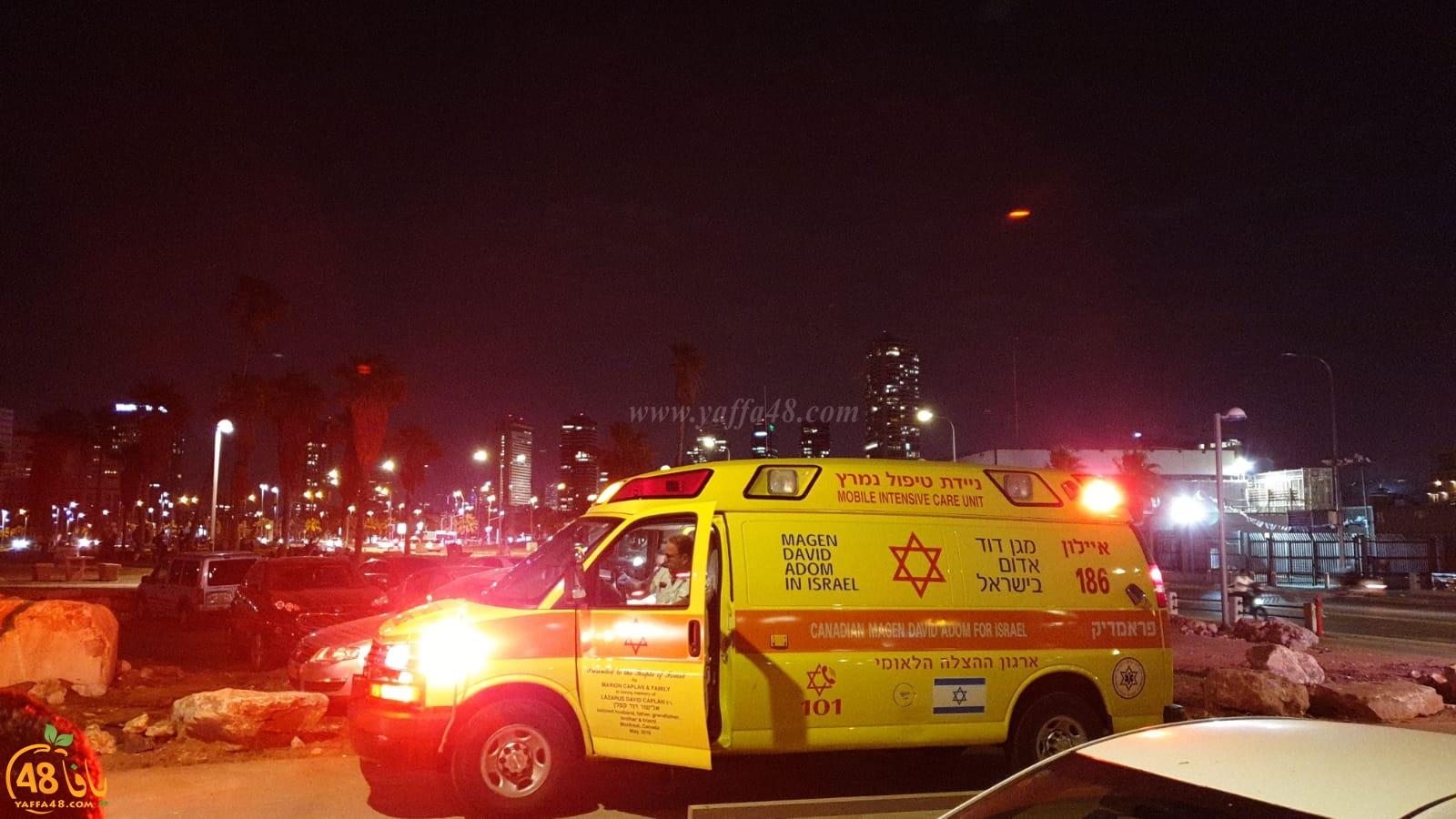 يافا: اصابة متوسطة لراكب دراجة هوائية اثر انزلاقه