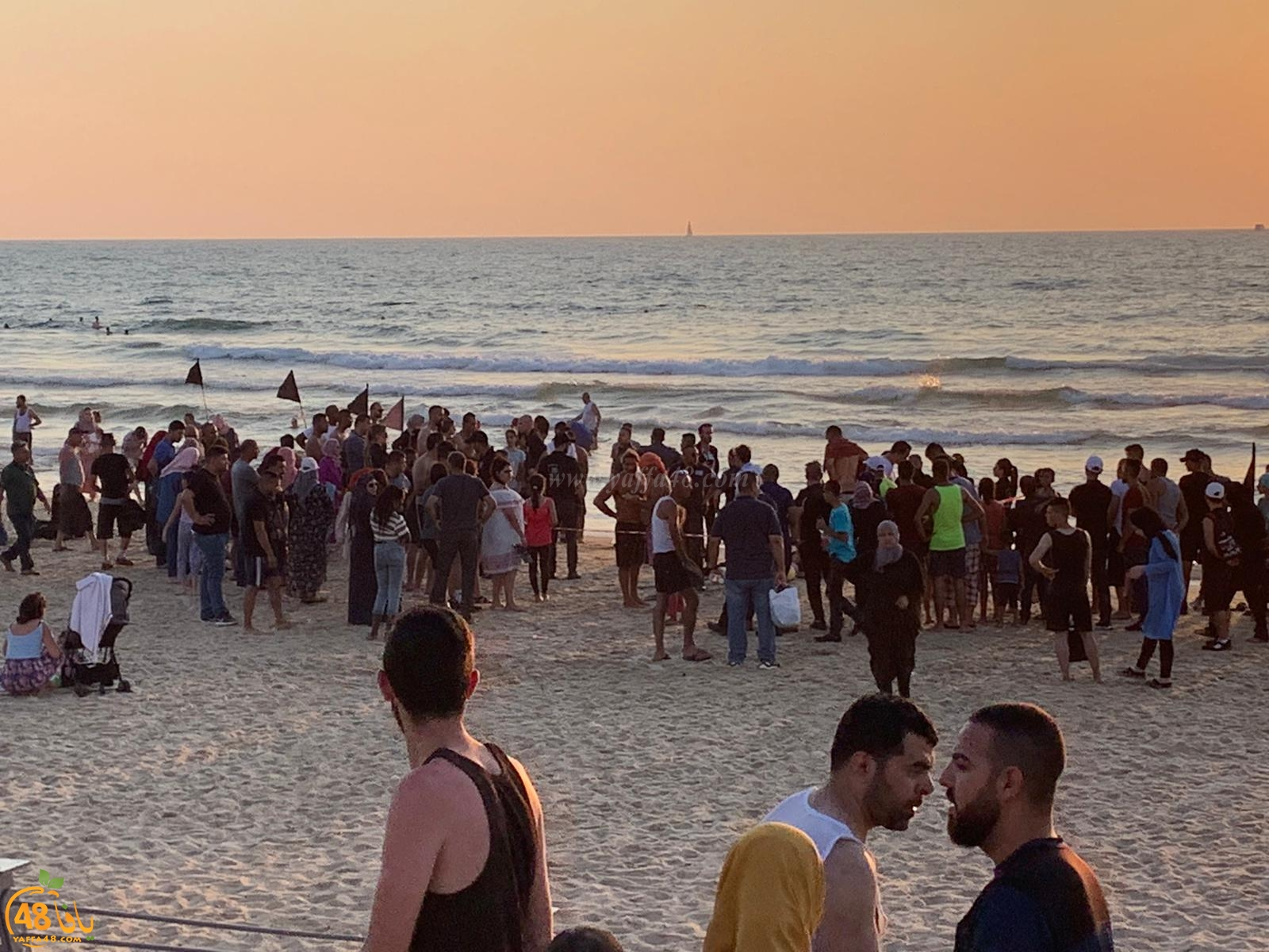 يافا: اصابة خطرة لفتاة غرقت على شاطئ البحر شمال المدينة