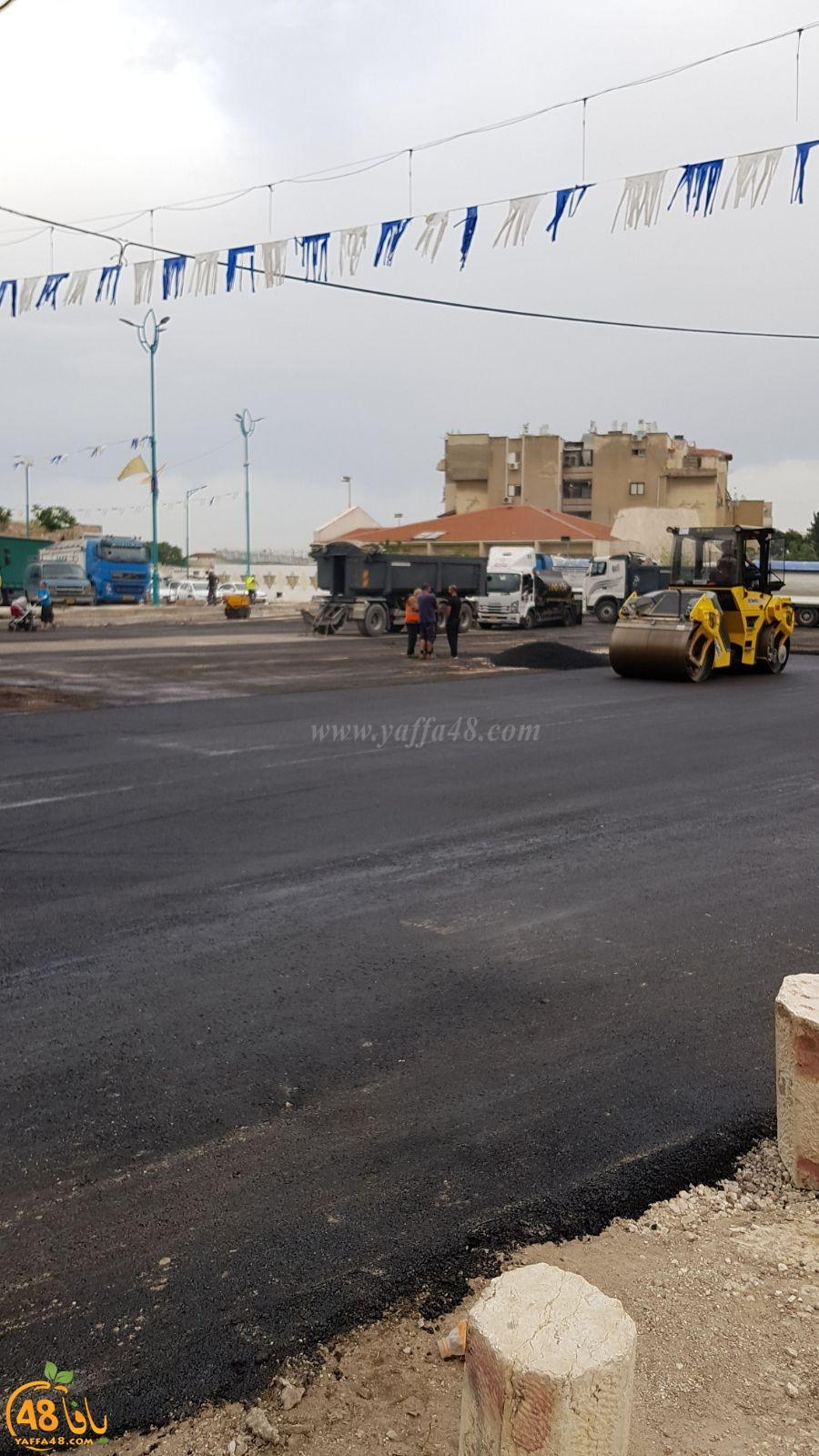 اتمام ترميم ساحة المسجد العمري في اللد لأداء الصلوات في رمضان وعيد الفطر