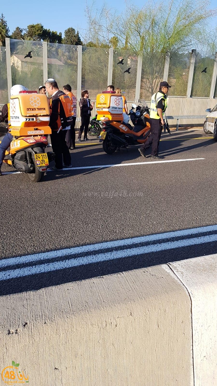 اصابة خطرة لطفل اثر تعرضه لحادث دهس قرب اللد