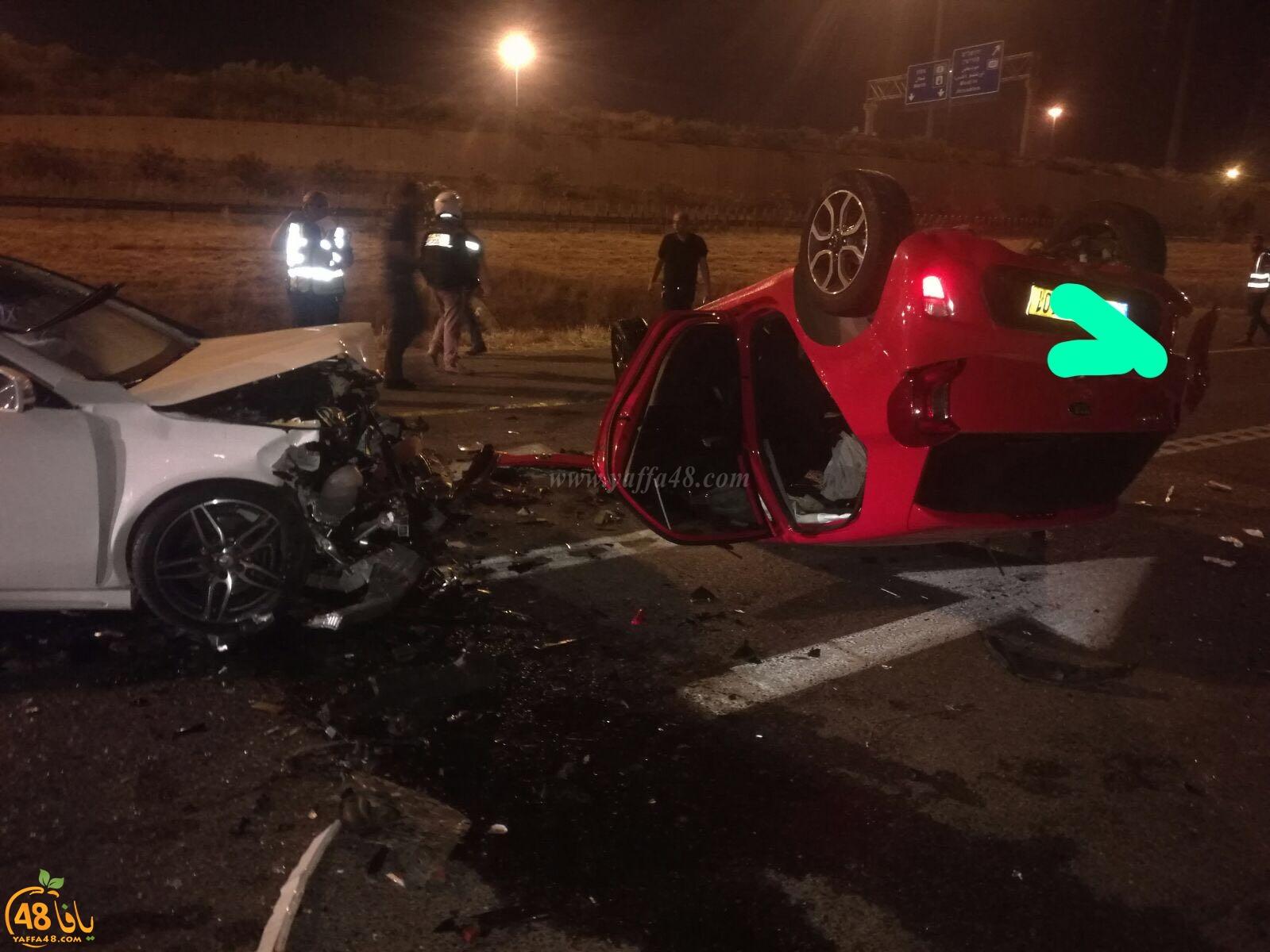 صور: 8 اصابات إحداها خطيرة بحادث طرق مروع قرب الرملة