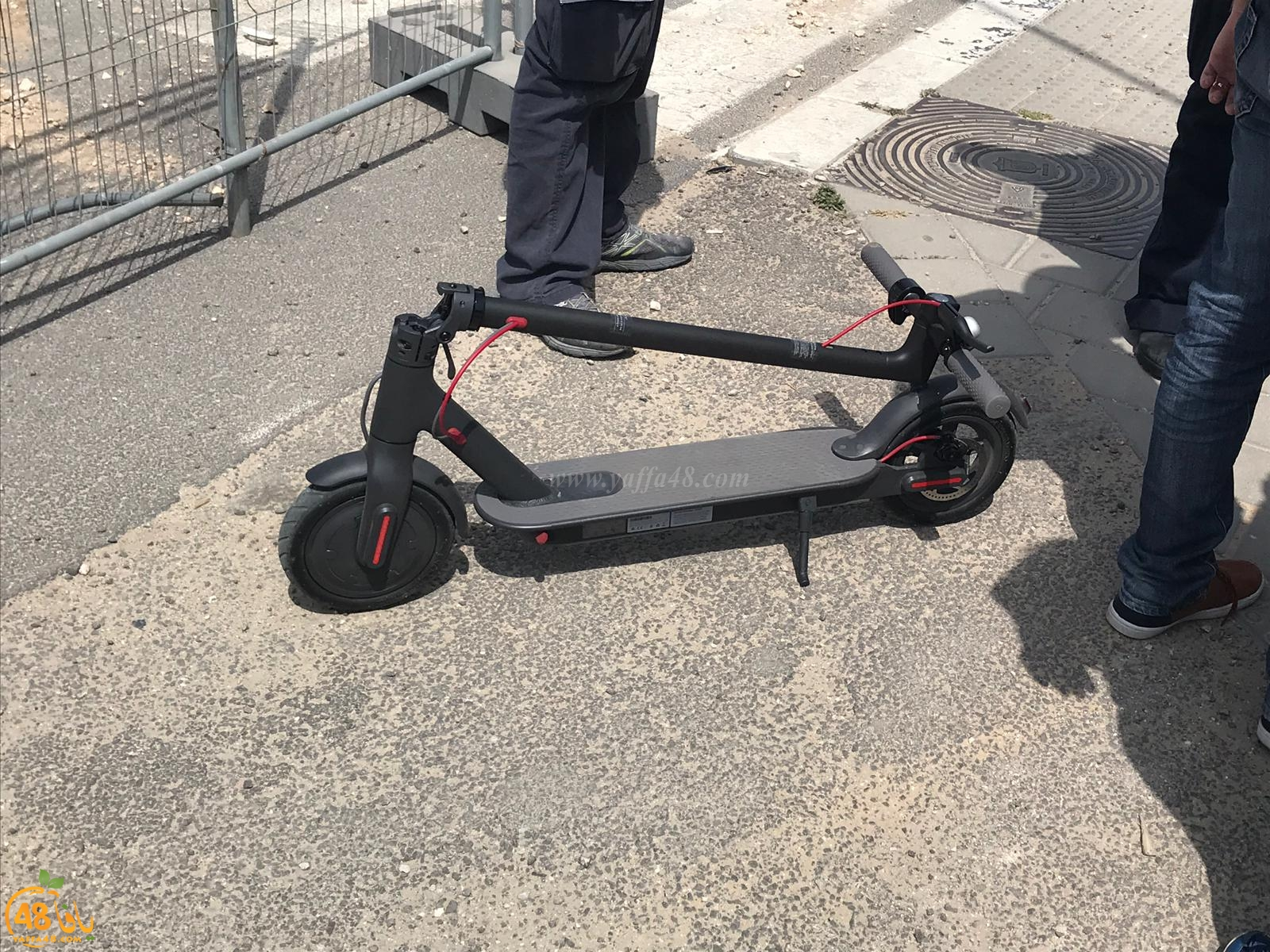 اصابة طفيفة لراكب دراجة كهربائية بحادث ذاتي في يافا