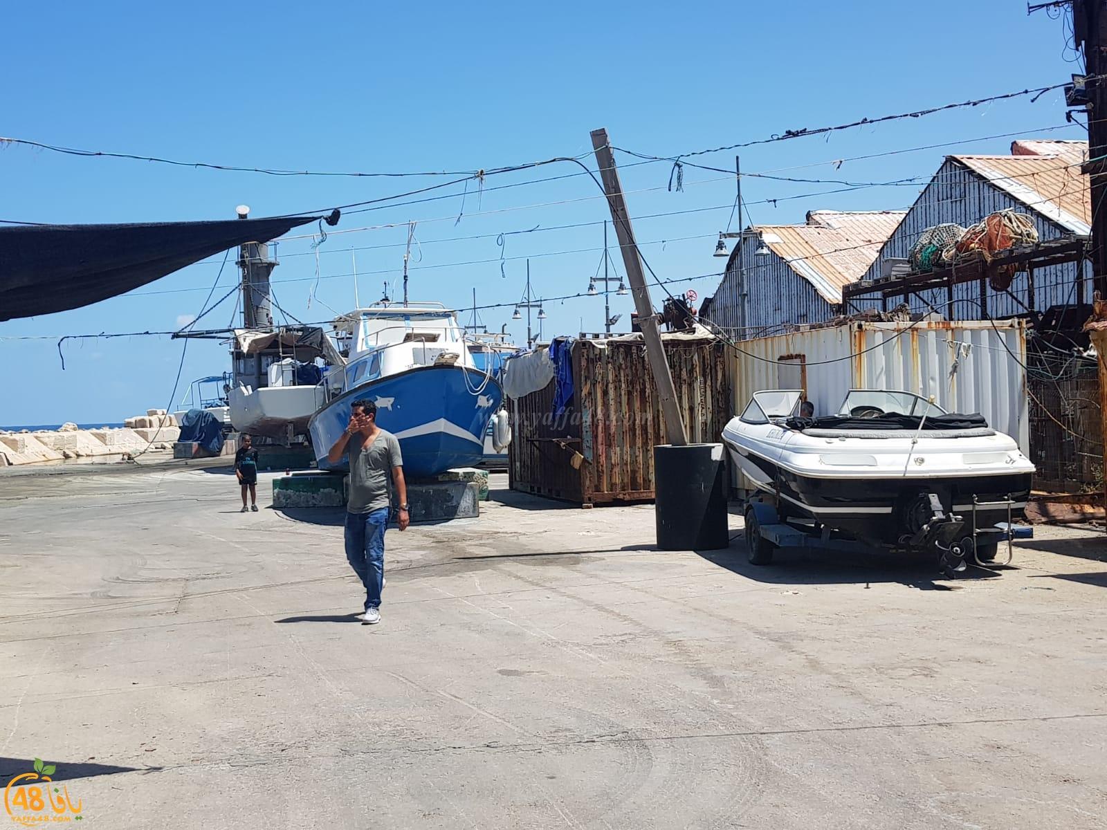 بالصور: للمرة الثالثة خلال اسبوعين - الشرطة تداهم مخازن الصيادين في ميناء يافا