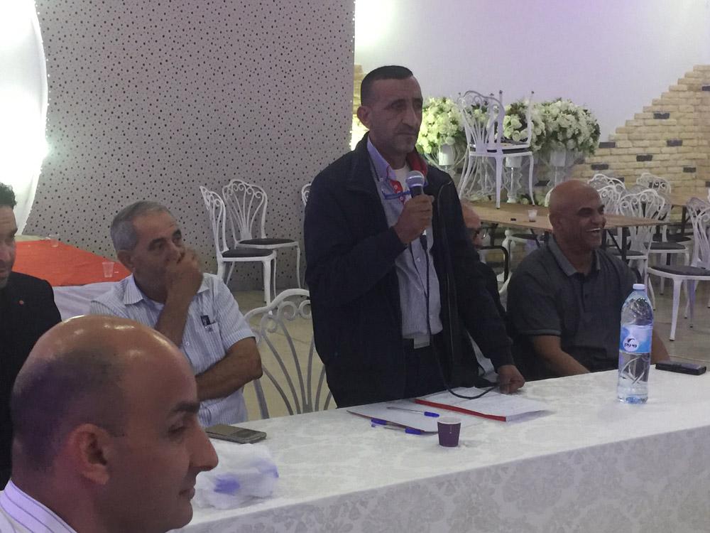 اللد : عقد الجلسة الافتتاحية للمجلس العام لقائمة النداء العربي اللداوية