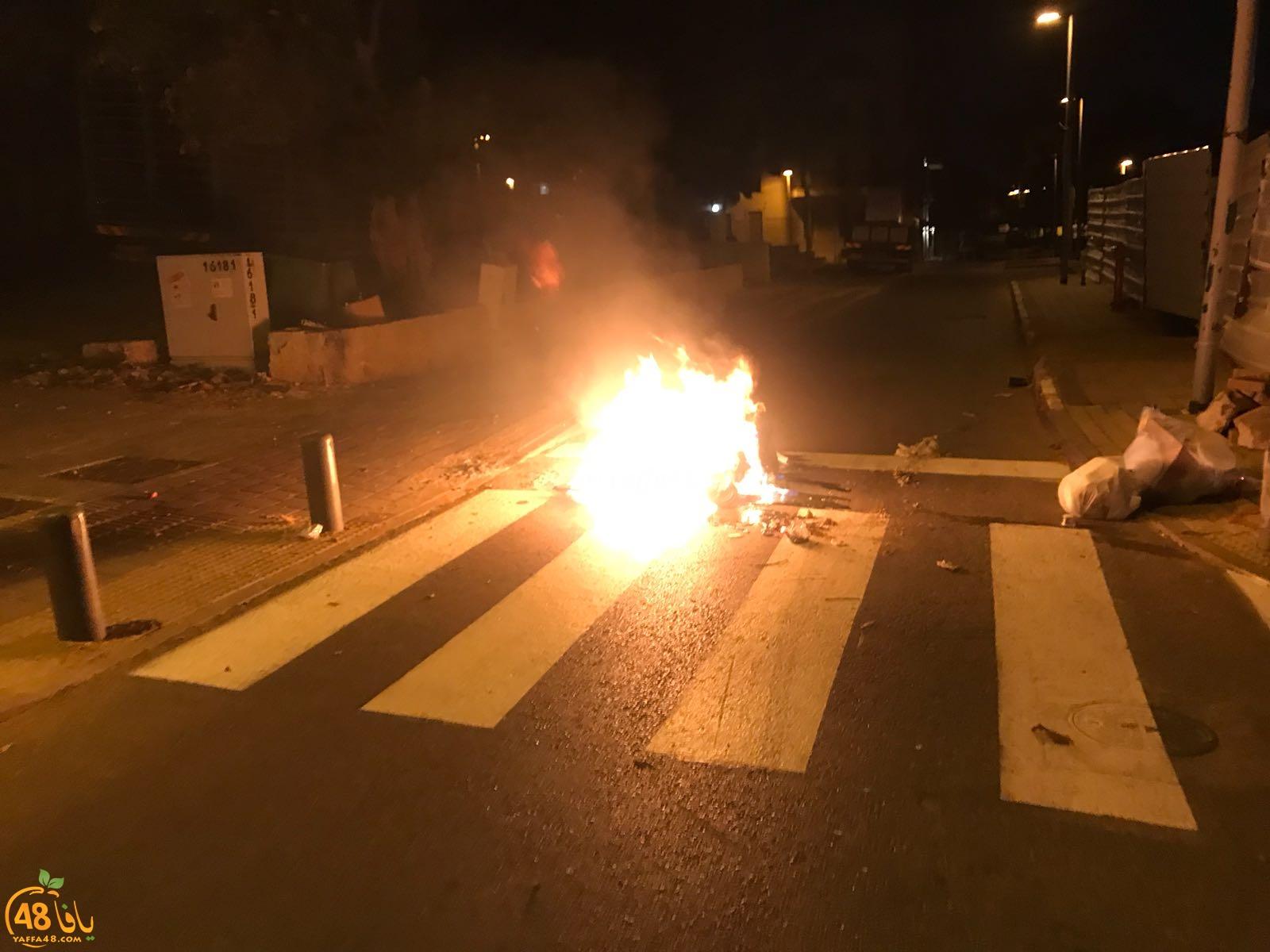 بالصور: ليلة متوترة تعيشها مدينة يافا وهدوء مشوب بالحذر