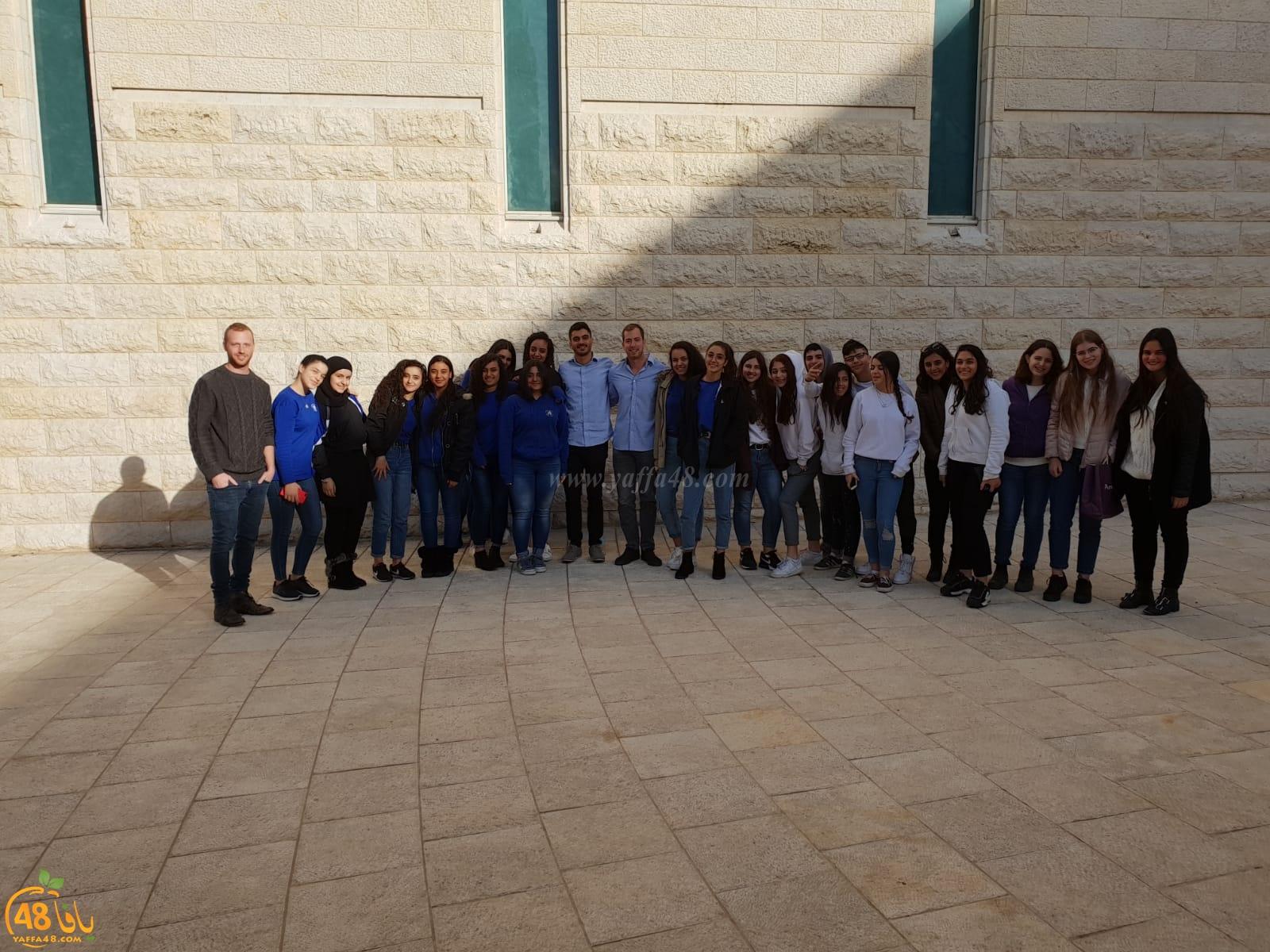 طلاب الصف العاشر من مدرسة أجيال الثانوية بزيارة للمحكمة العليا في القدس