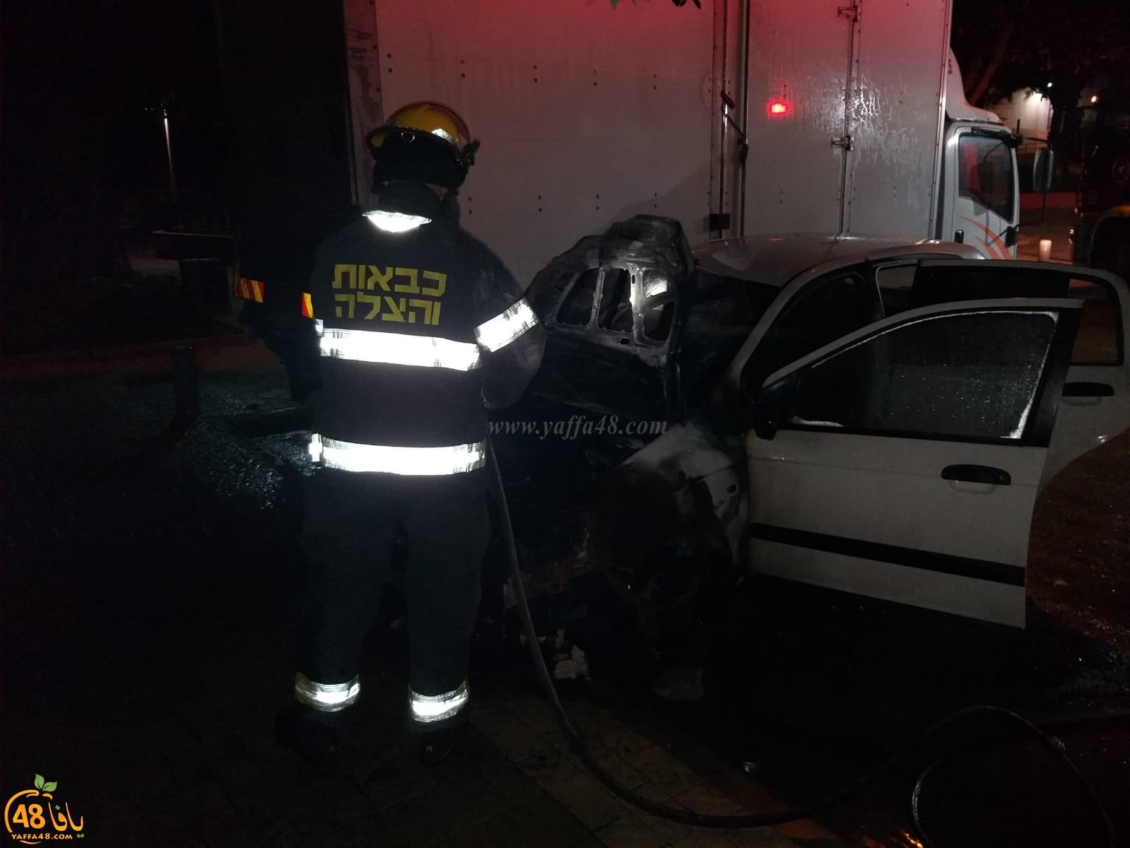يافا: احتراق سيارة دون وقوع اصابات