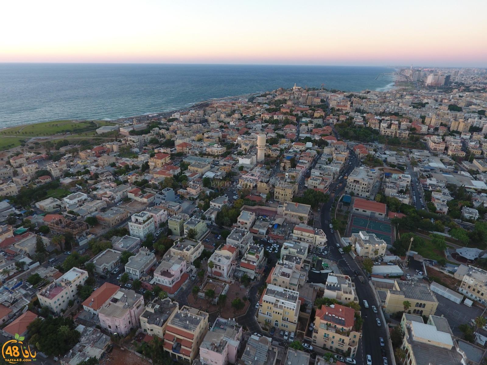 صورتي الأجمل - غروب الشمس في مدينة يافا .. تصوير جوّي