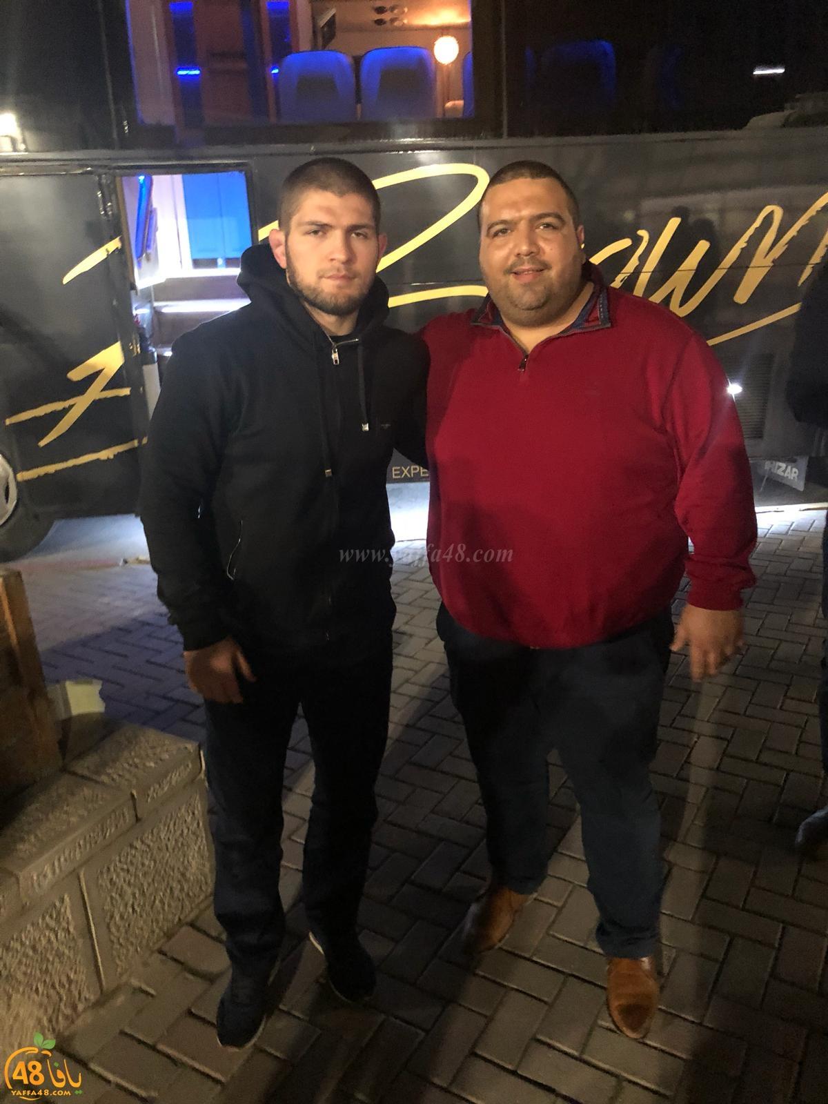 بالصور: ابن يافا السيد سعيد أبو العافية يستضيف بطل العالم في الملاكمة حبيب محمدوف