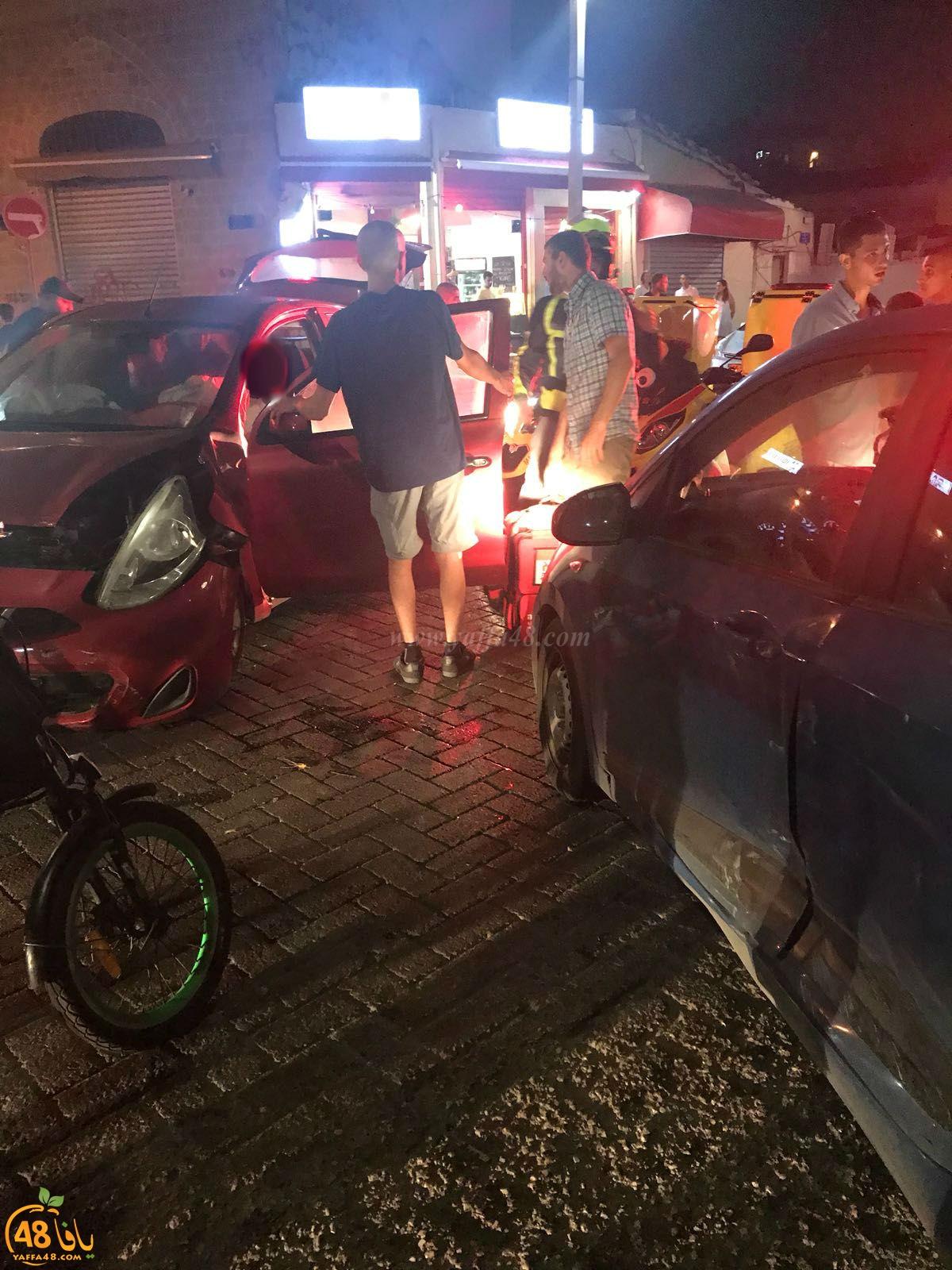 يافا: اصابة طفيفة لشخصين بحادث طرق وسط المدينة