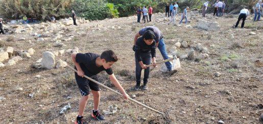 انطلاق يوم العمل التطوعي في مقبرة الزيب بدعوة من المتابعة والعمل الدعوي في الجديدة المكر