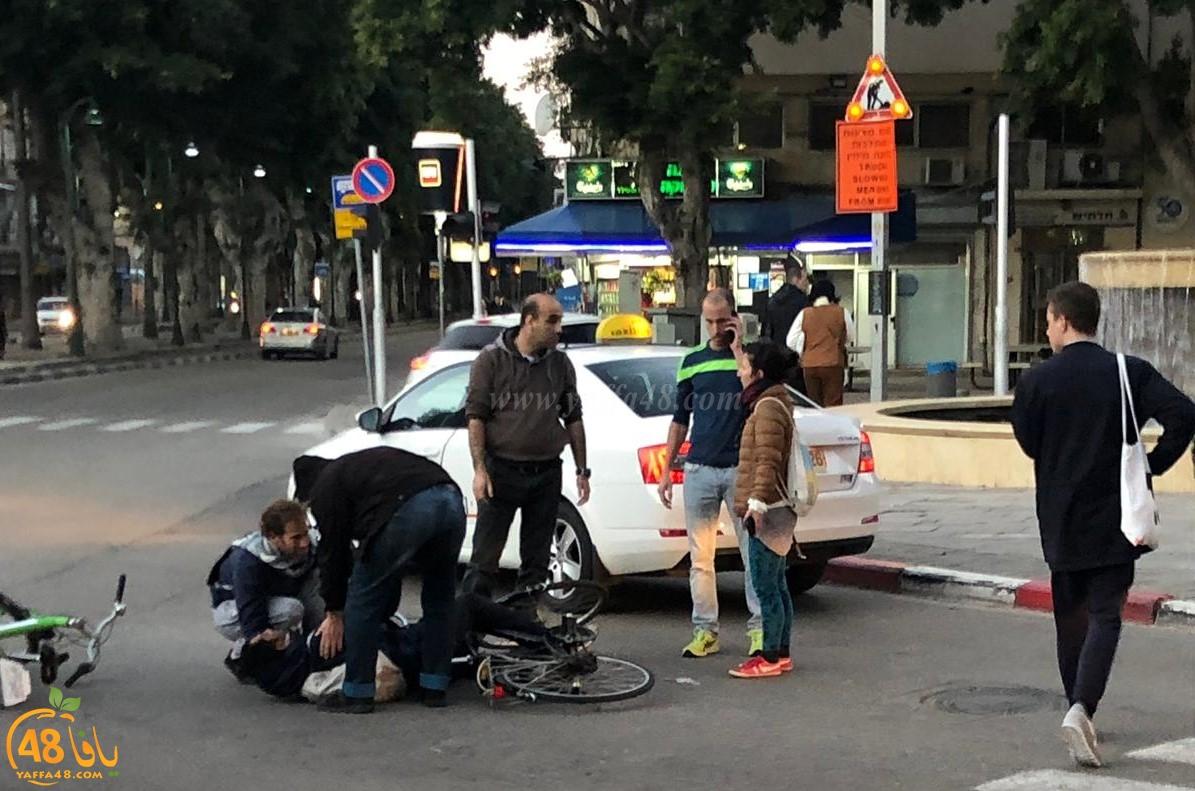 اصابة طفيفة لراكب دراجة هوائية بحادث دهس في يافا