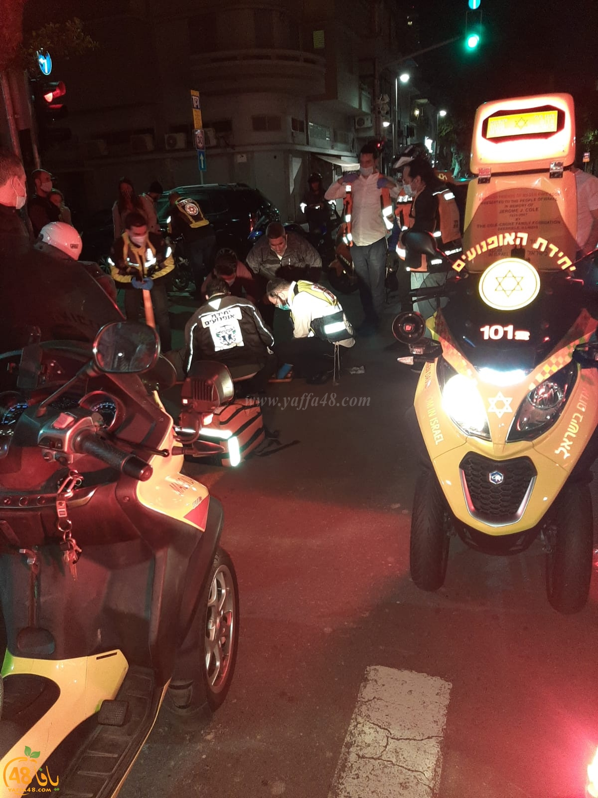 إصابة متوسطة لراكب دراجة بحادث دهس في مدينة يافا
