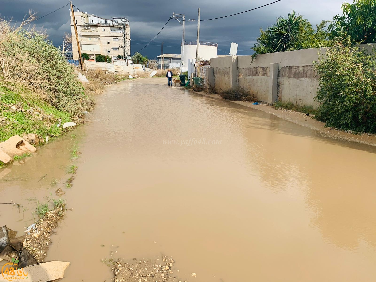 فيديو: الأحياء العربية في اللد محاصرة بالمستنقعات جراء مياه الأمطار