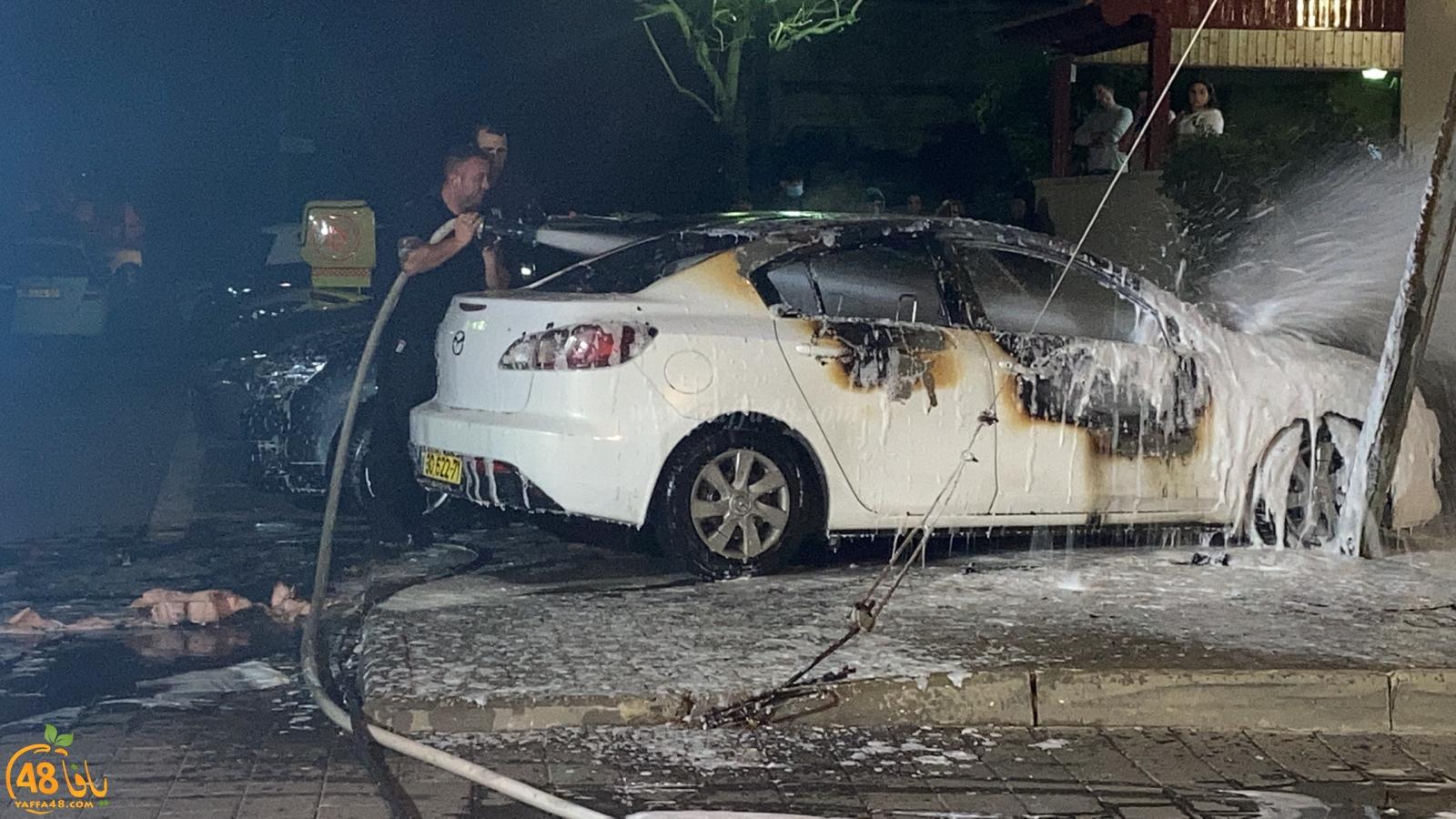 فجر اليوم - احتراق مركبة في مدينة يافا دون تسجيل اصابات