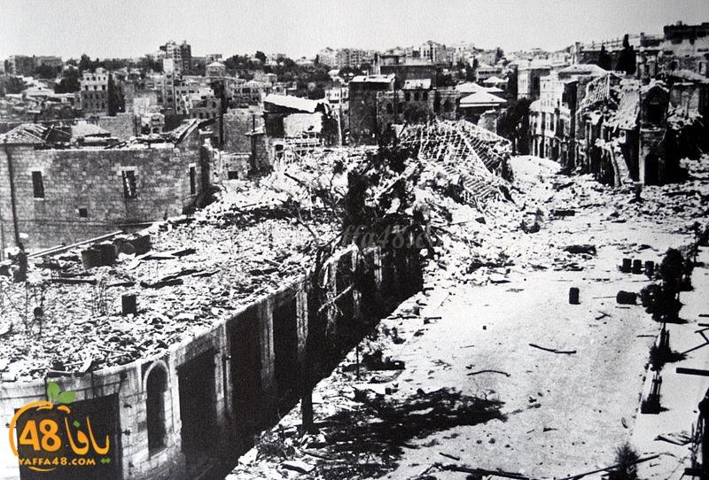 أيام نكبة| صور نادرة ليافا تُظهر حجم الدمار ومخلفات الحرب على المدينة