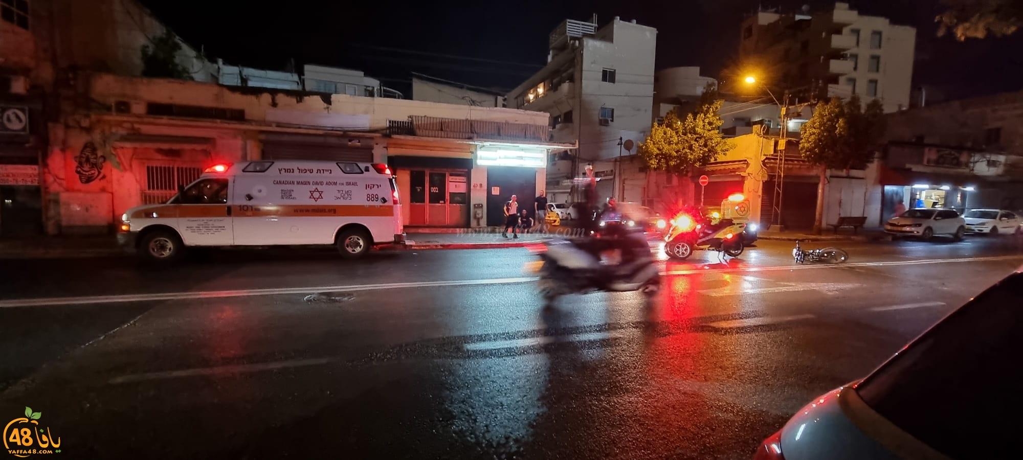 يافا: اصابة طفيفة لراكب دراجة كهربائية بحادث دهس