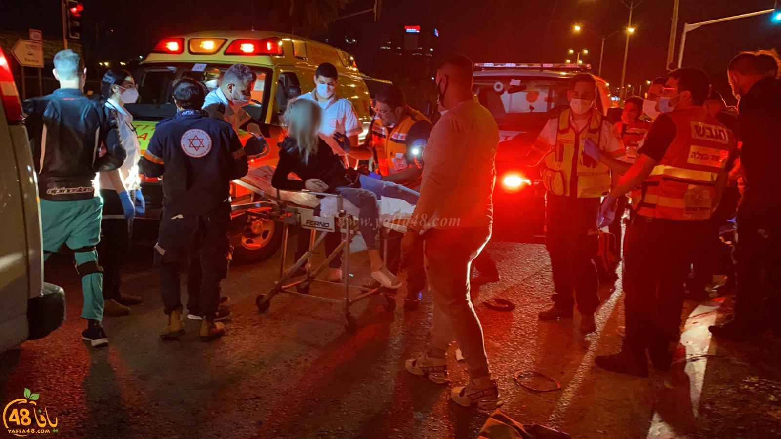 اصابة شخصين قرب الرملة بحادث طرق بين دراجة نارية ودراجة هوائية