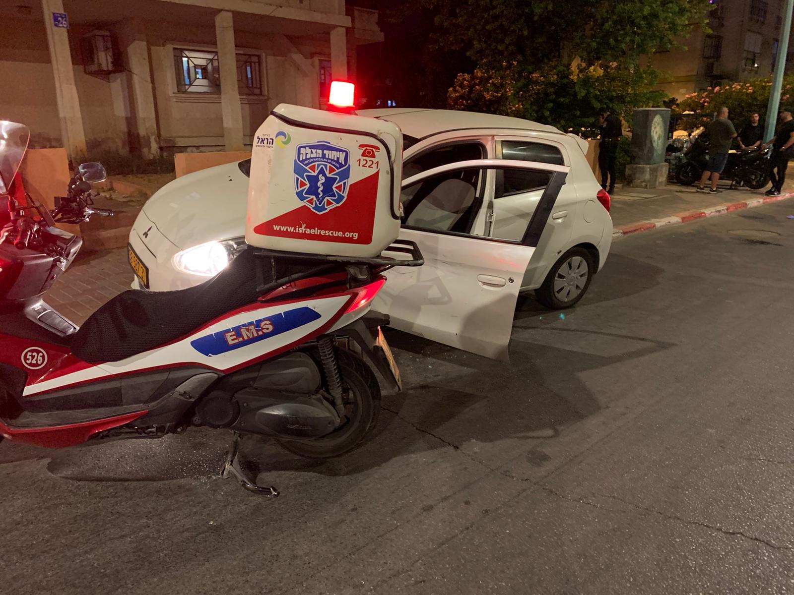 الرملة: اصابة متوسطة لراكب دراجة نارية بحادث طرق