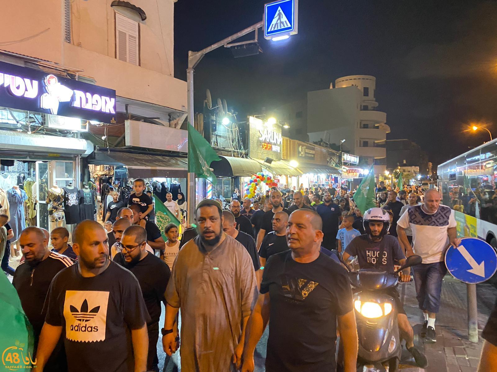 فيديو: مشاركة واسعة من أهالي يافا في مسيرة التكبيرات