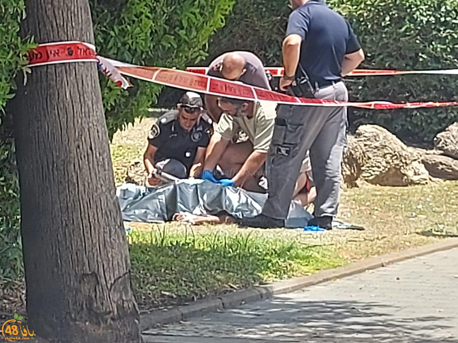 العثور على جثة شخص داخل حديقة بتل ابيب