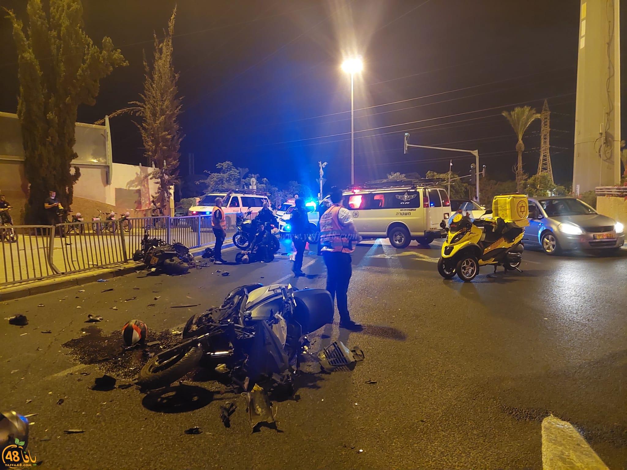 فجر اليوم: اصابة شخصين بحادث طرق بين دراجتين جنوب يافا